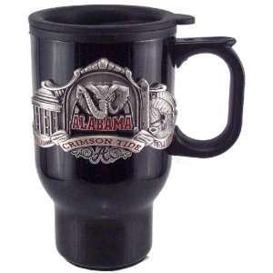 Alabama Crimson Tide Black Stainless Steel Travel Mug