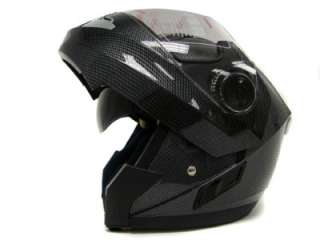 CARBON FULL FACE MODULAR MOTORCYCLE FLIP UP HELMET ~M