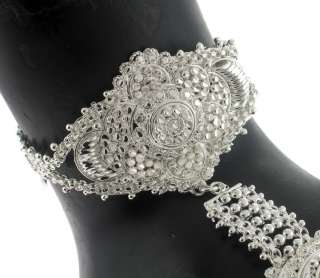 PC SILVER PLATED VERY BEAUTIFUL 1 RING SLAVE BRACELET