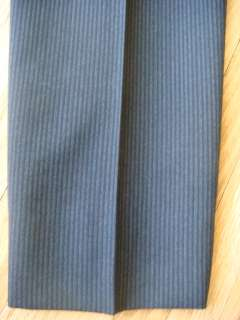 LV LOUIS VUITTON PARIS PINSTRIPE MENS SUIT SIZE 50 DARK GRAY MERIONS