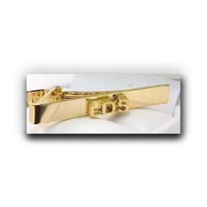 LDS Block (Gold) Tie Bar   A Christian Clothing Accessory