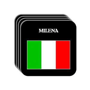 Italy   MILENA Set of 4 Mini Mousepad Coasters