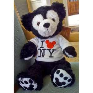 Disney Mickey Mouse Bear Black New York NY NWT Duffy