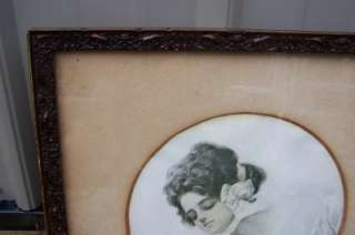 Antique Woman ing In Mirror Awesome Ornate Frame