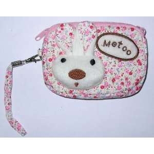 Metoo Cosmetic Makeup Bag Change Purse   Pink Micro