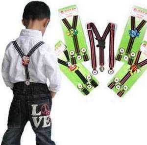 New Cartoon Kid Baby Infants Suspenders adjustable clip