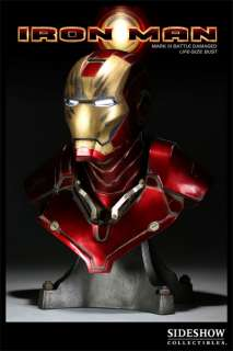Sideshow Iron Man   Mark III Battle Damaged Bust