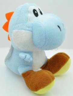 Super Mario Brother 7YOSHI Light Blue Plush Doll+MT112