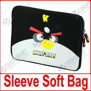 For iPAD 2 Angry Birds Soft Case Sleeve Bag cover black