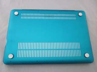 blue Rubberized hard case cover for macbook pro 15/15.4inch