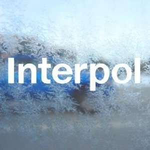 Interpol White Decal Rock Band Car Window Laptop White