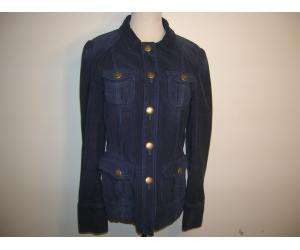 MARC JACOBS navy corduroy blazer.Long sleeves with collar and snaps