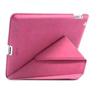 Hot Pink iPad 2/iPad3 Soft Flip Leather Sleeve Cover Case