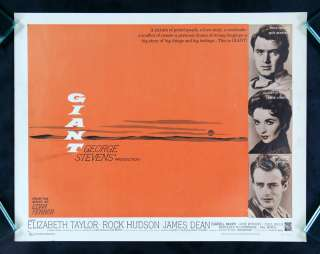 GIANT * JAMES DEAN HALF SH MOVIE POSTER