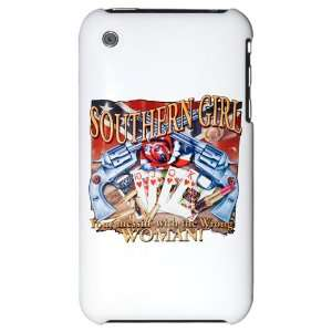 iPhone 3G Hard Case Southern Girl Rebel Flag With Guns