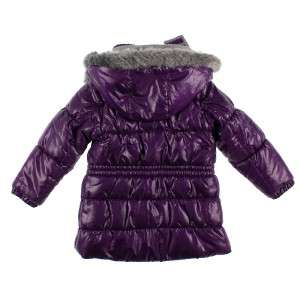NEW LONDON FOG GIRL FAUX FUR Lined Snow WINTER Coat Removeable Hood