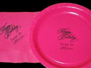 50 Personalized Wedding Cake Plates Napkins Heart Doves