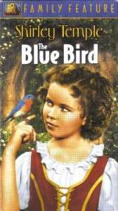 VHS THE BLUE BIRDSHIRLEY TEMPLERARE & IN COLOR