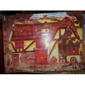 Robert Longstaff 14 Piece Wooden Barn Peg Puzzle Toys