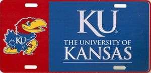 New KU Kansas Jayhawks Metal Car Tag License Plate 731247321701