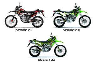 Kawasaki KLX 250 Custom Sticker Graphic Decals Kits