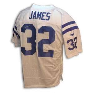 Edgerrin James Autographed/Hand Signed Puma Brand White Jersey