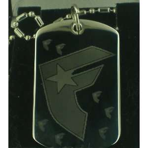 FAMOUS STARS AND STRAPS #7 Dog Tag Pendant Necklace