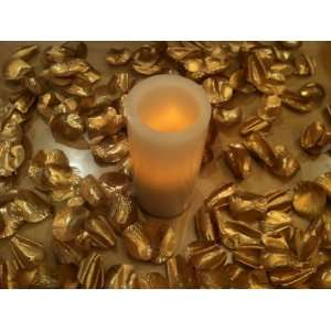 Gold 500 Premium Hand Cut Silk Rose Petals Wedding Party Favors Home