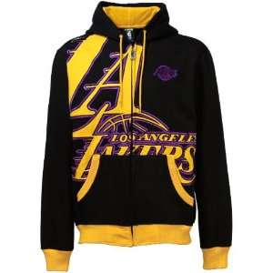 Los Angeles Lakers Black Airport Full Zip Hoody Sweatshirt