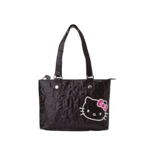 Hello Kitty Shouldr Tote BAG  Black Quilt Toys & Games