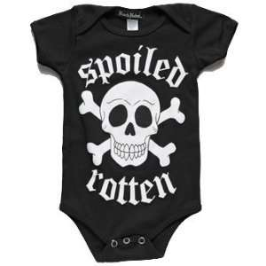 Spoiled Rotten Infant Onesie with Skull
