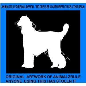 AFGHAN HOUND DOG VINYL DECAL
