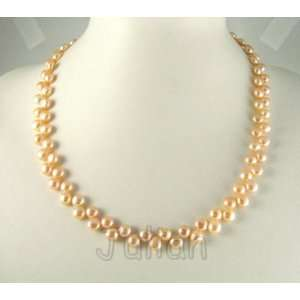18 6mm Pink Freshwater Pearl Necklace J056 Arts, Crafts & Sewing