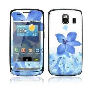 LG Vortex Skin   Blue Neon Flower