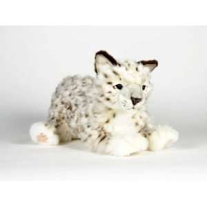 Hansa Snow Leopard Cub Stuffed Plush Animal, Laying Toys