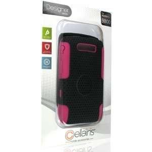 Air Rapture Case for Blackberry Torch 9800 Black/Pink