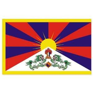 Tibet Flag car bumper sticker window decal 5 x 3