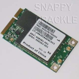 HP Compaq 2230s 6530b 6730b 6735s 6830s Wireless Card