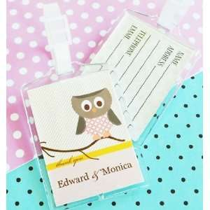Owl Baby Shower Favors Luggage Tags Baby