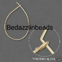 24 Gold Plated Teardrop Hoop Earwires~Earring Findings