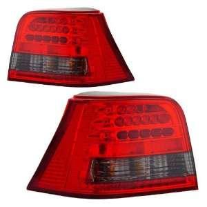 1999 2001 VW Golf KS LED Red/Smoke Tail Lights Automotive