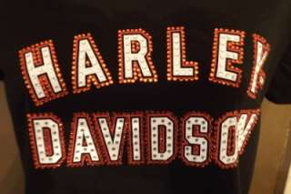 Harley Davidson M Motorcycle Sequined Sexy Top