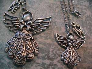 Mother Daughter Sisters Angel Necklaces