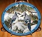 WINGED TREASURES Blue Christmas Blue Jay Bird DERK HANSEN Danbury Mint