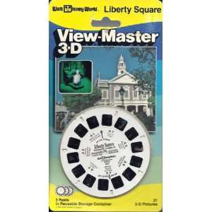 Disneyworld Liberty Square 3D View Master 3 Reel Set Toys & Games