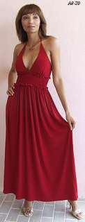 XOXO SEXY RED HALTER LONG EVENING AFTER 5 DRESS M NEW
