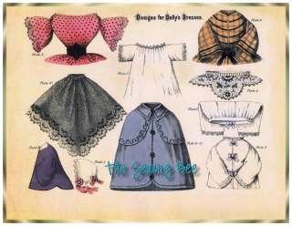 Antique Dollys Dressmaker Booklet 18 doll wardrobe patterns 1860s
