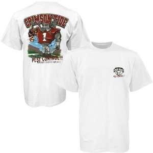Alabama Crimson Tide White Pest Control T shirt