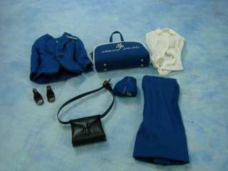 Barbie Doll American Airline Stewardess Outfit Clothes Complete