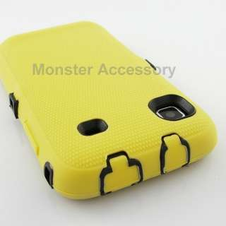 Yellow Double Layer Leather Case Samsung Galaxy S 4G T Mobile